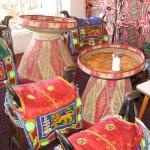 Merkato Restaurant: saddle chairs