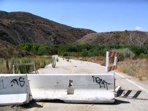 Road to St. Francis Dam site