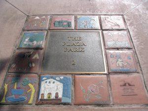 San Gabriel Park Plaza tiles