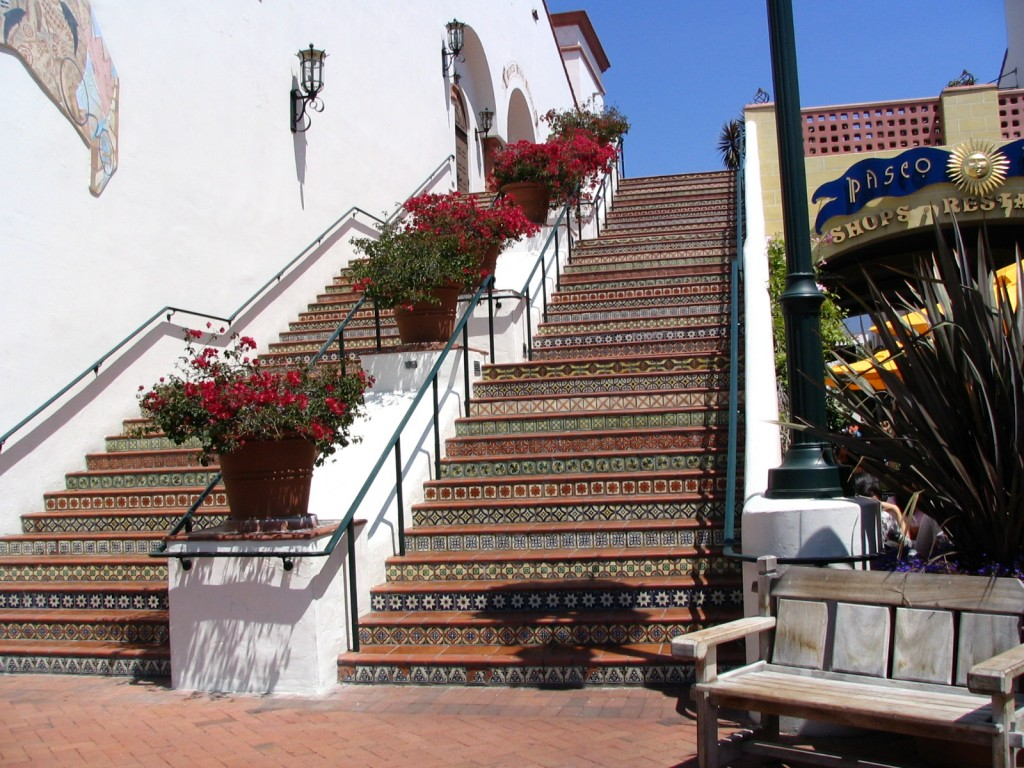 Santa Barbara: stairs