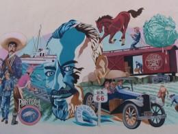 Steinbeck Center mural: US 66