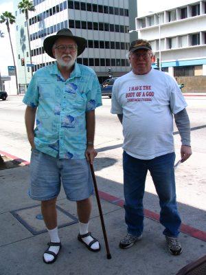 Hollywood Antiwar March: John Varley & Jim Wilson