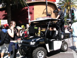 Hollywood Antiwar March: Police Videotaping