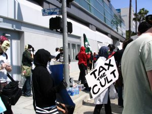 Hollywood Antiwar March: Tax the Cult