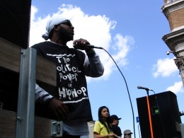 Hollywood Antiwar March: The Political Power of Hip Hop