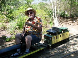 Descanso Gardens: John Varley on train