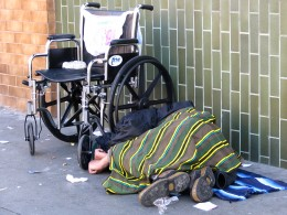 Homeless in a wheelchair
