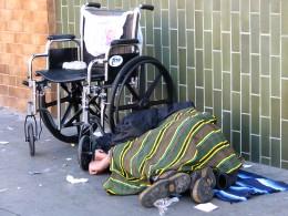 Homeless in a wheelchair