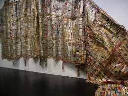 "El Anatsui ""Fading Scroll"" LACMA"