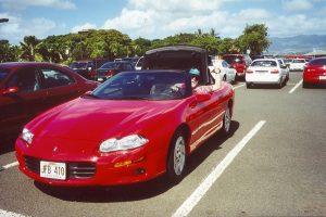 John Varley driving Camaro