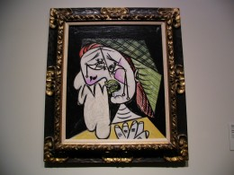 "Picasso ""Weeping Woman with Handkerchief"" LACMA"