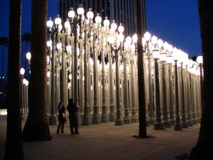 Streetlights by Chris Burden - night